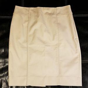 White House Black Market Cream Lined Skirt Sz 12